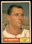 1961 Topps #216  Ted Bowsfield  Front Thumbnail
