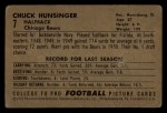 1952 Bowman Small #7  Chuck Hunsinger  Back Thumbnail
