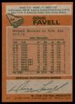 1978 Topps #54  Doug Favell  Back Thumbnail
