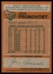 1978 Topps #184  Jean Pronovost  Back Thumbnail