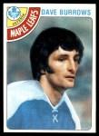 1978 Topps #254  Dave Burrows  Front Thumbnail