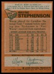 1978 Topps #223  Wayne Stephenson  Back Thumbnail