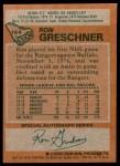 1978 Topps #154  Ron Greschner  Back Thumbnail