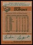 1978 Topps #98  Andre Dupont  Back Thumbnail
