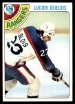 1978 Topps #136  Lucien DeBlois  Front Thumbnail