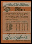 1978 Topps #222  Derek Smith  Back Thumbnail