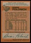 1978 Topps #106  Dennis Polonich  Back Thumbnail