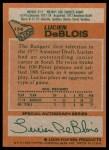 1978 Topps #136  Lucien DeBlois  Back Thumbnail
