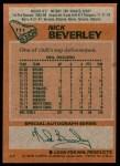 1978 Topps #111  Nick Beverley  Back Thumbnail