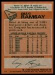 1978 Topps #9  Craig Ramsay  Back Thumbnail
