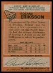 1978 Topps #241  Roland Eriksson  Back Thumbnail