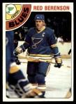1978 Topps #218  Red Berenson  Front Thumbnail