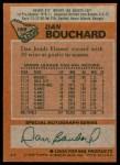 1978 Topps #169  Dan Bouchard  Back Thumbnail