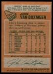 1978 Topps #224  John Van Boxmeer  Back Thumbnail