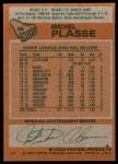 1978 Topps #36  Michel Plasse  Back Thumbnail