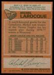 1978 Topps #158  Michel Larocque  Back Thumbnail