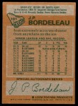 1978 Topps #101  J.P. Bordeleau  Back Thumbnail