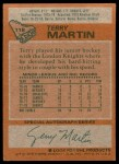 1978 Topps #118  Terry Martin  Back Thumbnail