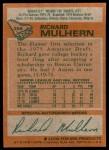 1978 Topps #256  Richard Mulhern  Back Thumbnail