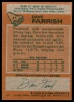1978 Topps #41  Dave Farrish  Back Thumbnail