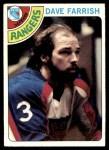 1978 Topps #41  Dave Farrish  Front Thumbnail