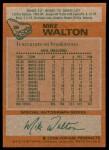 1978 Topps #38  Mike Walton  Back Thumbnail