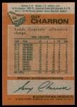 1978 Topps #22  Guy Charron  Back Thumbnail
