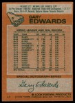 1978 Topps #6  Gary Edwards  Back Thumbnail