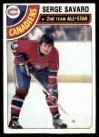 1978 Topps #190   -  Serge Savard All-Star Front Thumbnail