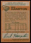 1978 Topps #174  Rick Hampton  Back Thumbnail