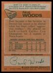 1978 Topps #159  Paul Woods  Back Thumbnail
