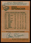 1978 Topps #137  Brian Spencer  Back Thumbnail