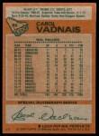 1978 Topps #85  Carol Vadnais  Back Thumbnail