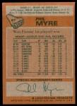 1978 Topps #87  Phil Myre  Back Thumbnail