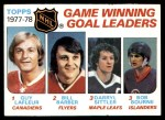 1978 Topps #69   -  Guy Lafleur / Bill Barber / Darryl Sittler / Bob Bourne League Leaders Front Thumbnail