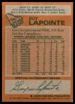 1978 Topps #260  Guy Lapointe  Back Thumbnail