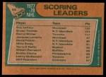 1978 Topps #65   -  Guy Lafleur / Brian Trottier / Darryl Sittler League Leaders Back Thumbnail