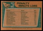 1978 Topps #66   -  Dave Schultz / Tiger Williams / Dennis Polonich League Leaders Back Thumbnail