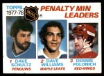 1978 Topps #66   -  Dave Schultz / Tiger Williams / Dennis Polonich League Leaders Front Thumbnail