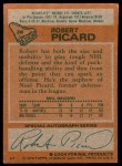 1978 Topps #39  Robert Picard  Back Thumbnail