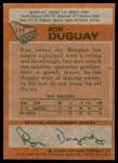 1978 Topps #177  Ron Duguay  Back Thumbnail