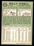 1967 Topps #162  Billy O'Dell  Back Thumbnail