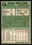 1967 Topps #98 BLK Rich Rollins  Back Thumbnail