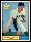1961 Topps #449  Bobby Bolin  Front Thumbnail