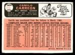 1966 Topps #513  Camilo Carreon  Back Thumbnail