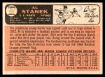 1966 Topps #437  Al Stanek  Back Thumbnail
