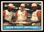 1961 Topps #25   -  Frank Robinson / Vada Pinson / Gus Bell Reds Heavy Artillery Front Thumbnail