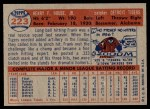1957 Topps #223  Frank House  Back Thumbnail