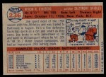 1957 Topps #236  Joe Ginsberg  Back Thumbnail
