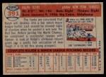 1957 Topps #391  Ralph Terry  Back Thumbnail